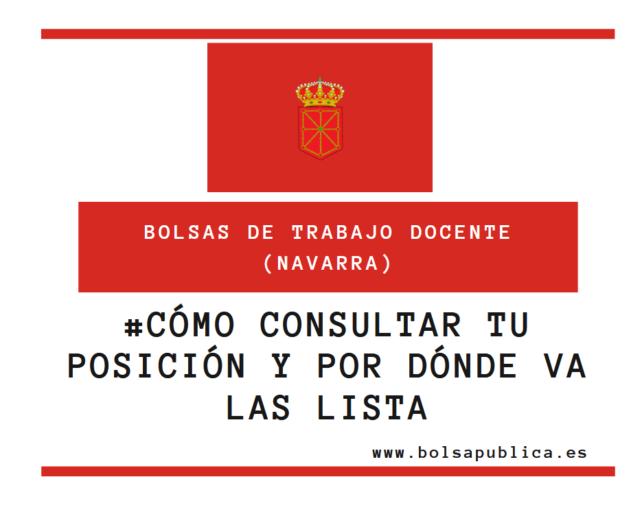 Consulta de la posición en la bolsa de interinos maestros y profesores de Navarra ATP Gobierno de Navarra