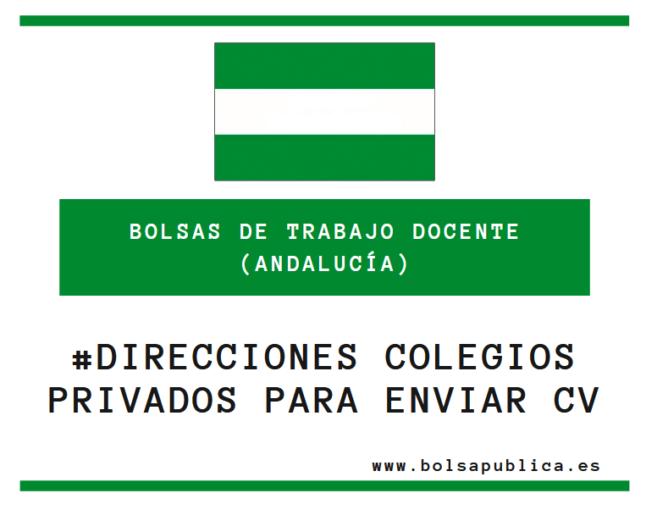 direcciones colegios privados y concertados en Andalucía