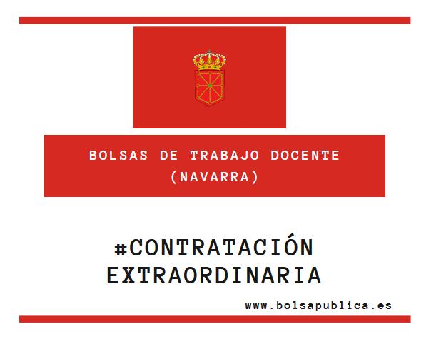 llamamientos web contratación extraordinaria en Navarra maestros y profesores
