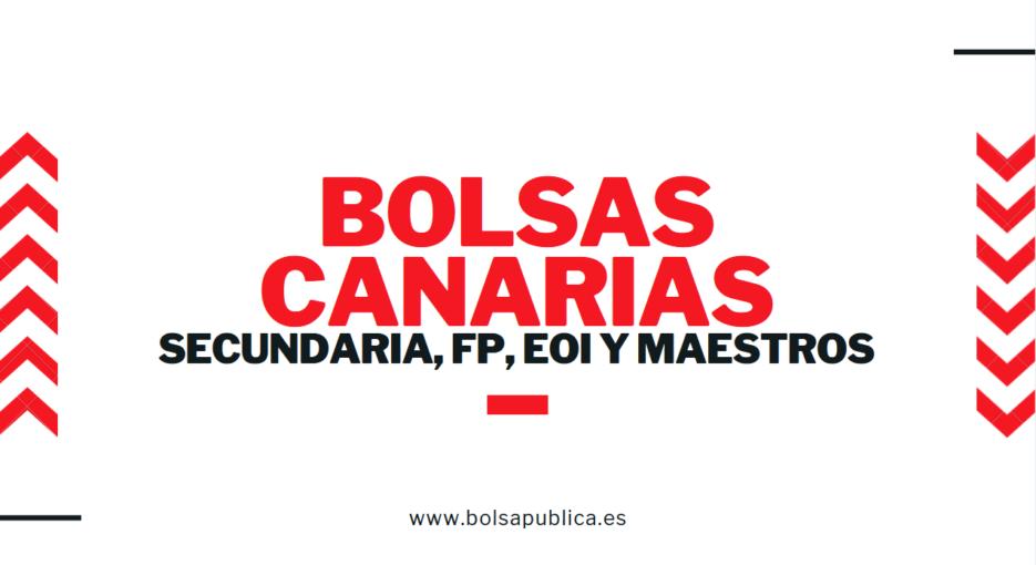 bolsa canarias 2019 secundaria, maestros eoi, fp