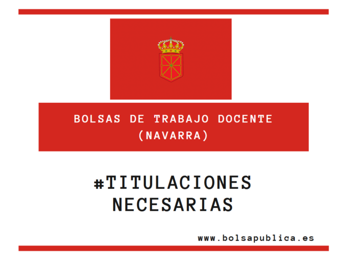 Titulaciones necarias acceso a bolsas docentes de Navarra