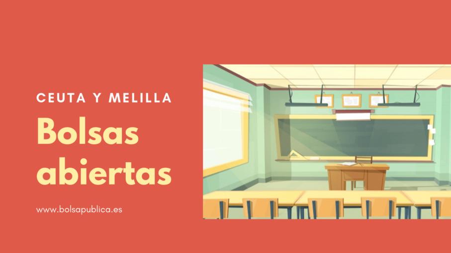 Bolsas docentes en Ceuta y Melilla
