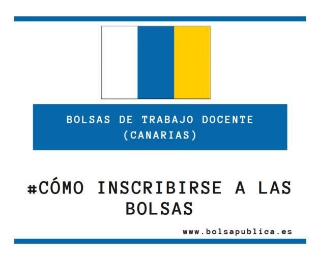 Cómo inscribirse en las bolsas docentes de Canarias