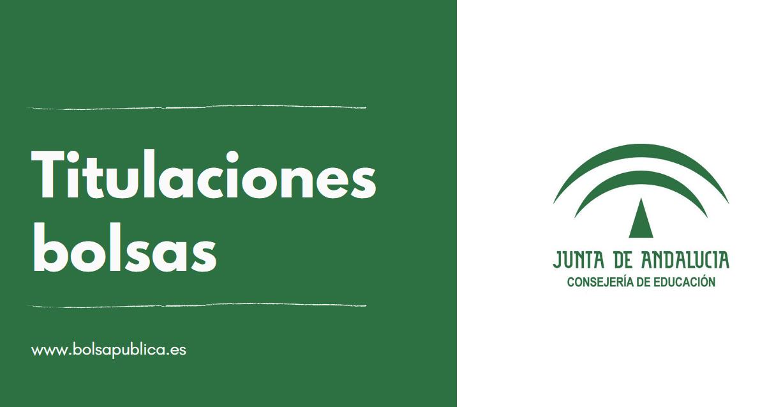 Titulaciones de las bolsas de interinos de la Junta de Andalucía