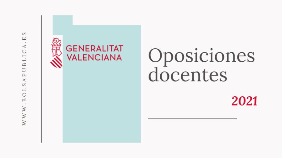 Oposiciones secundaria comunidad valenciana 2021