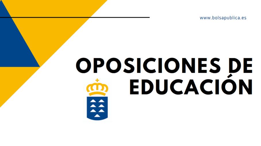 oposiciones docentes de Canarias 2020 Educación profesores