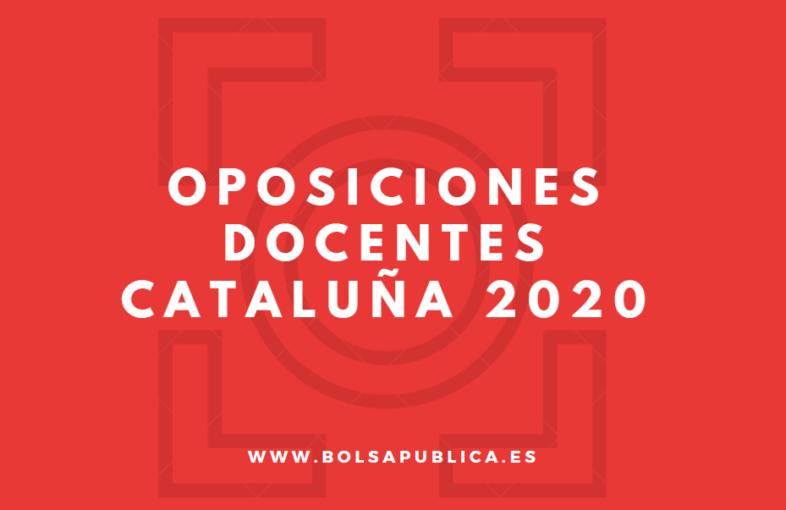 Oposiciones docentes en Cataluña 2020