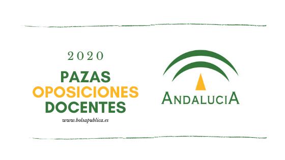 Plazas Oposiciones de Educación 2020 Andalucía Profesores