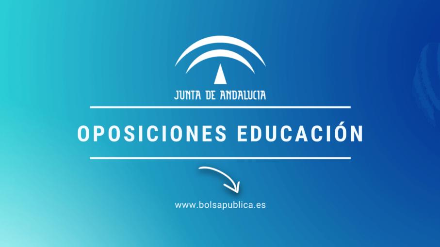 oposiciones de Educación en Andalucía Secundaria 2020