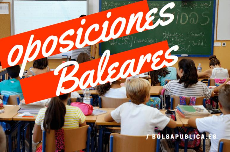 Oposiciones de maestros y profesores en las Islas Baleares