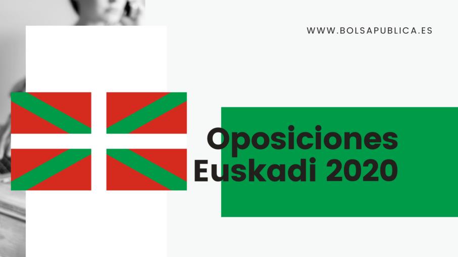 Oposiciones de Educación en Euskadi 2020