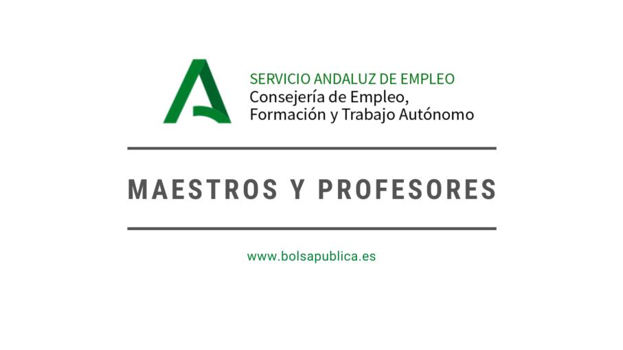 trabajo para maestros y profesores en el servicio andaluz de empleo Andalucía