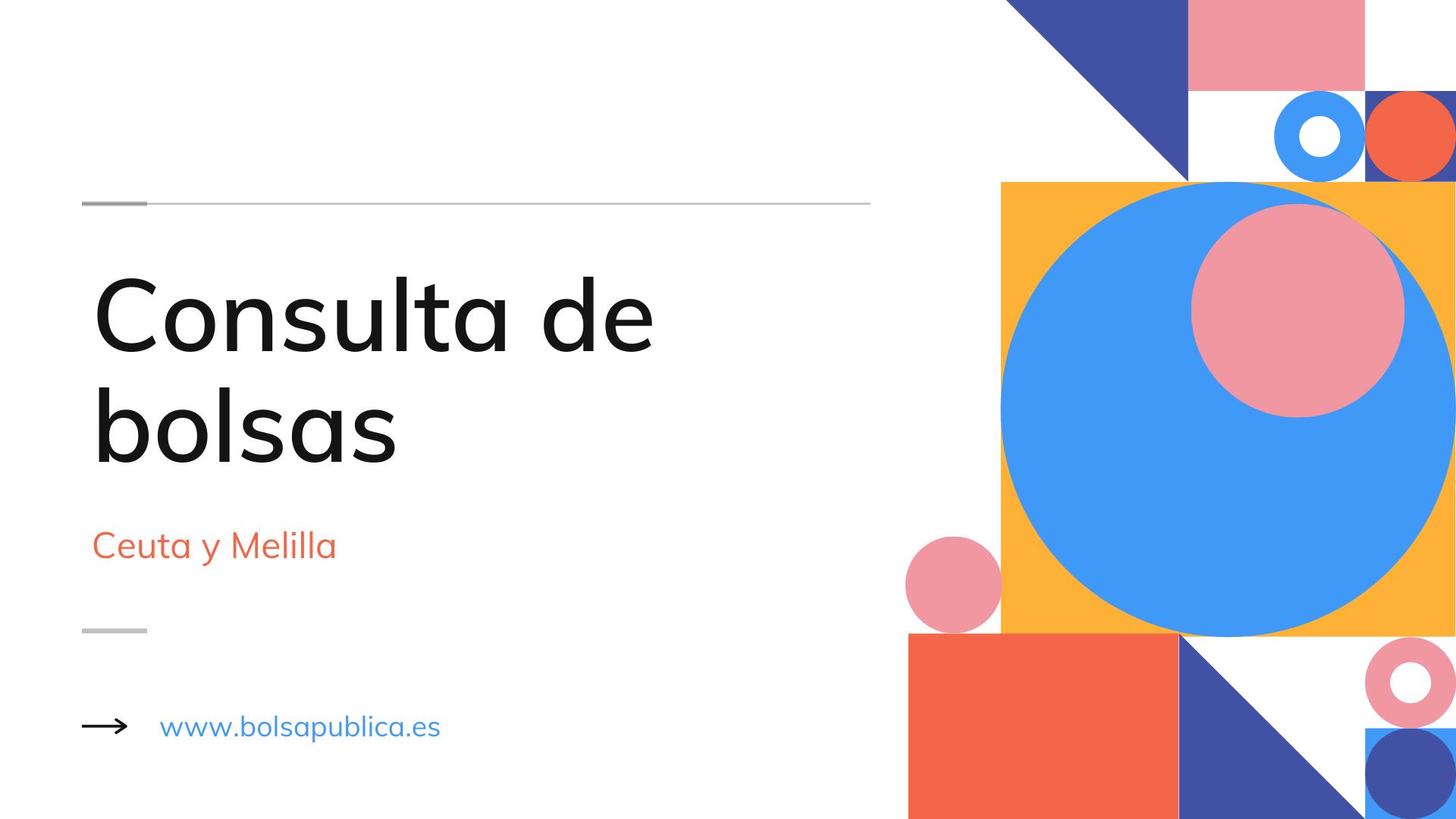 Consulta de bolsas docentes en Ceuta y Melilla Extraordinarias