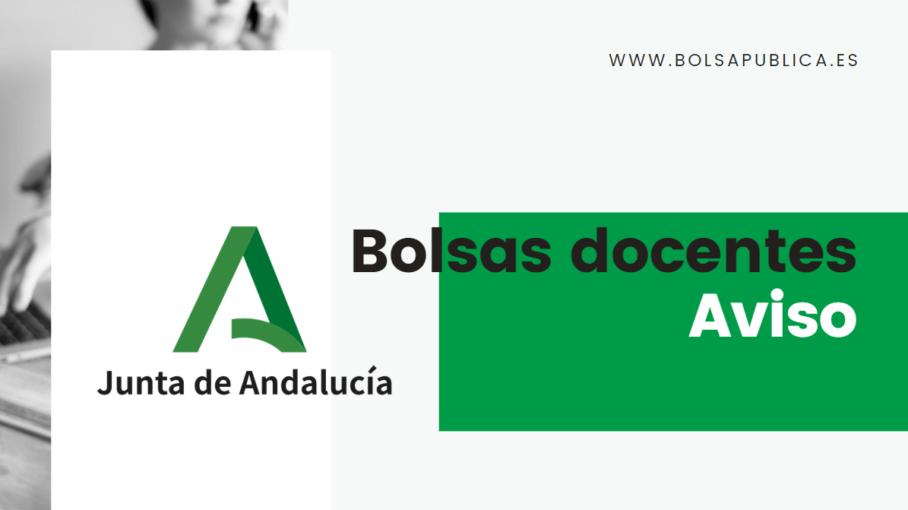 Sistema de aviso de las bolsas de profesores y maestros de la Junta de Andalucía