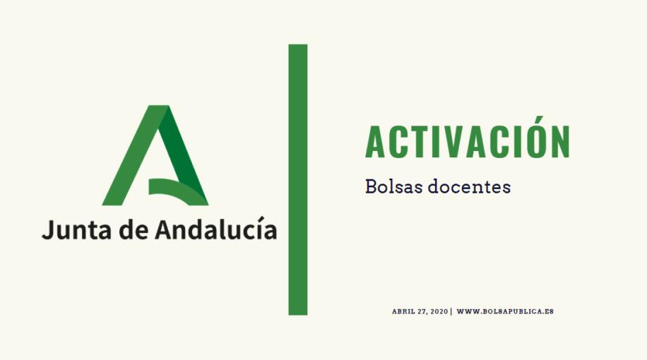 Activación en bolsas de Educación. Junta de Andalucía