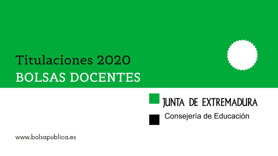 Titulaciones 2020 bolsas de interinos de extremadura profesores y maestros