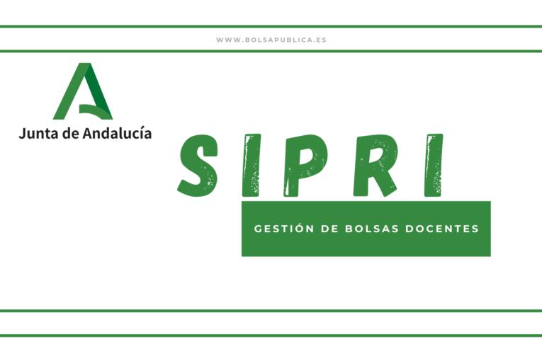 Sipri gestión de bolsas de interinos docentes en Andalucía