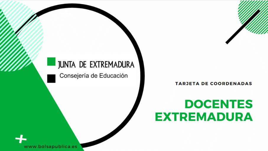 Tarjeta de Coordenadas Extremadura docentes