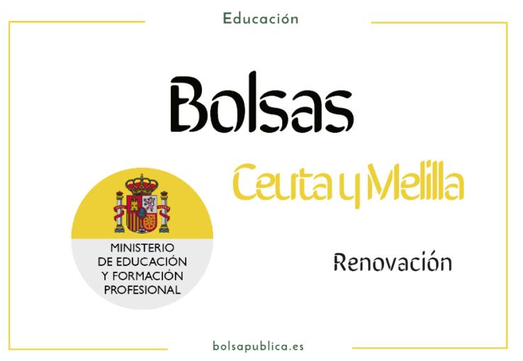 rebaremacion renovación bolsas docentes de Ceuta y Melilla