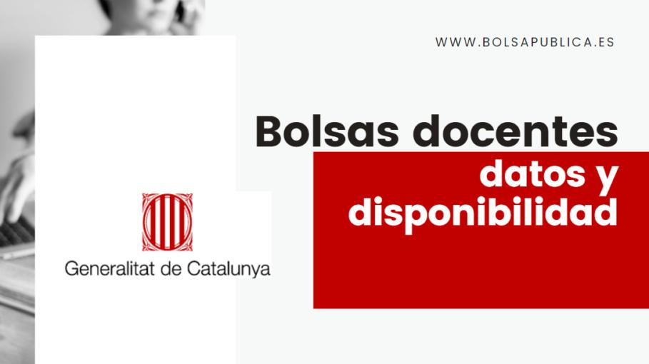 Cataluña bolsas docentes disponibilidad