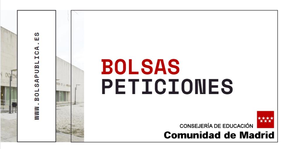 peticiones bolsas Madrid Educación