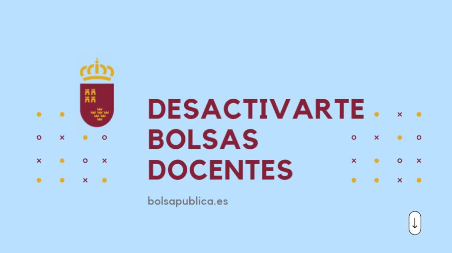 desactivarse bolsas docentes de Murcia