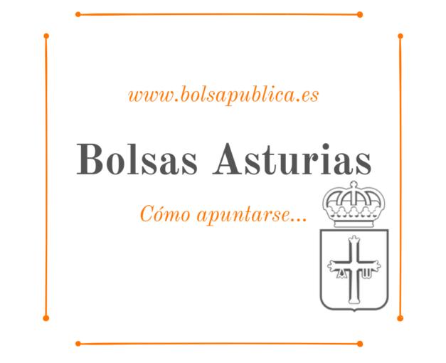 tutorial de cómo apuntarse a las bolsas de Asturias educación