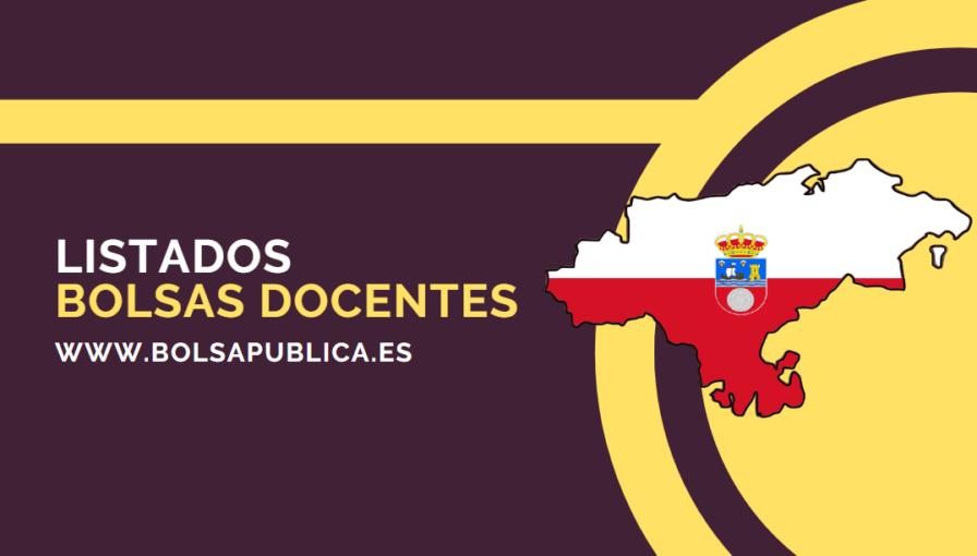 listados de las bolsas docentes de Cantabria