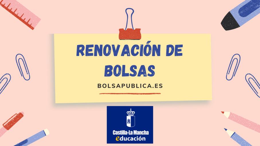 Renovación de pertenencia a bolsas docentes de Castilla la Mancha