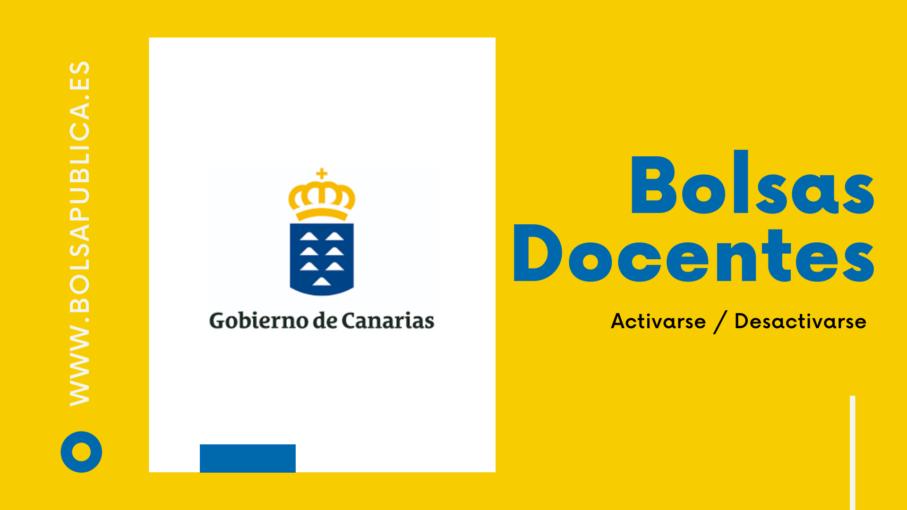 Cómo activarse o desactivarse en las bolsas de maestros y profesores de Canarias