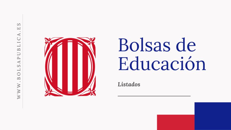 bolsas docentes de Cataluña listados