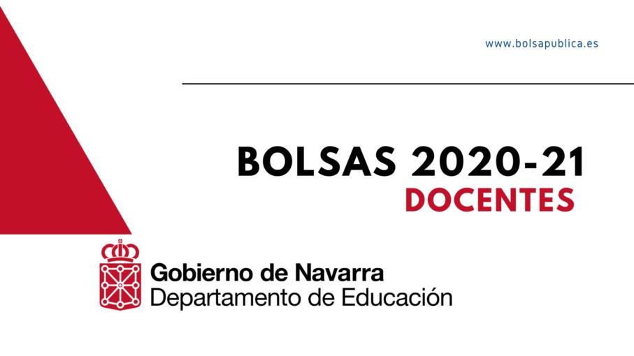 bolsas docentes en Navarra curso 2020-21