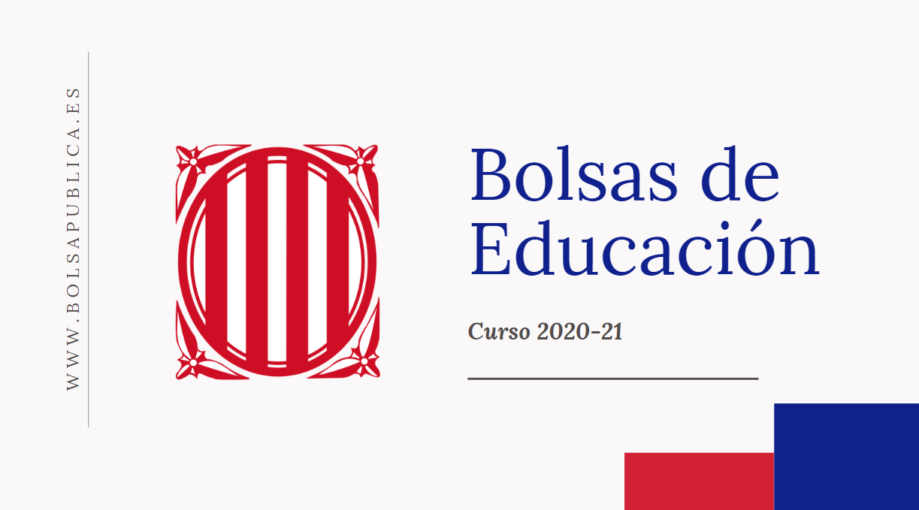 bolsas docentes de Cataluña curso 2020-21