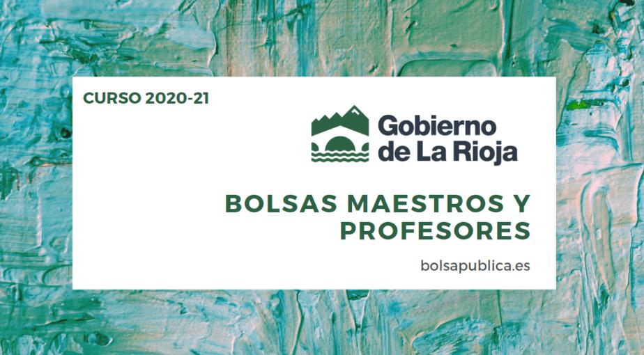 Bolsas de Educación en La Rioja para el Curso 2020-21