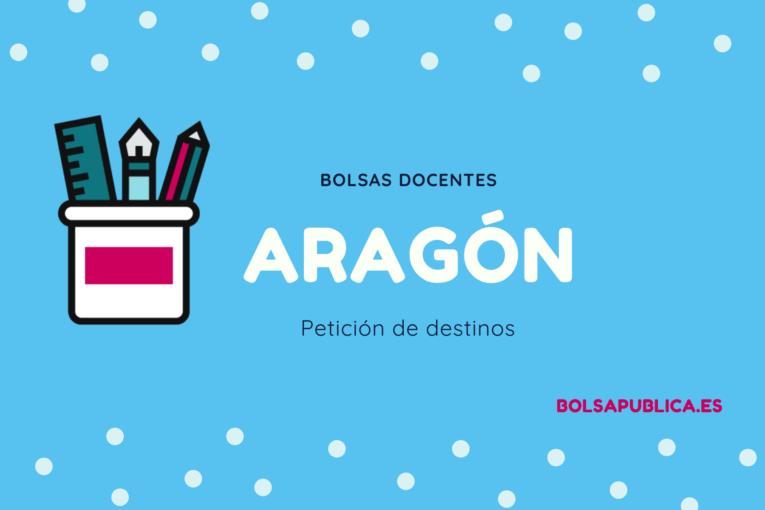petición de destinos en bolsas docentes de Aragón