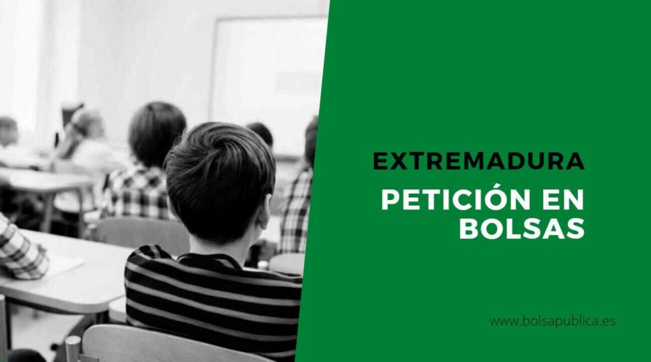 Petición de vacantes y sustituciones en Extremadura