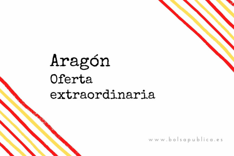 Aragón oferta de Vacantes docentes extraordinarias