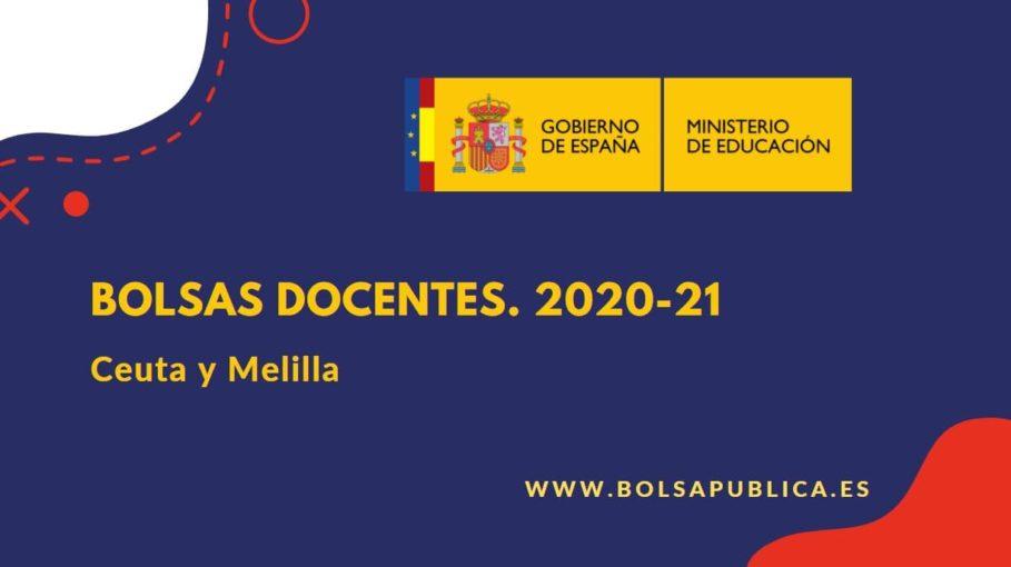 bolsas abiertas en Ceuta y Melilla 2020-21