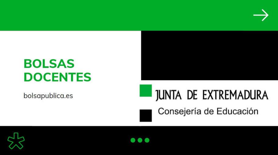 Bolsas para maestros y Profesores abiertas en Extremadura curso 2020-21