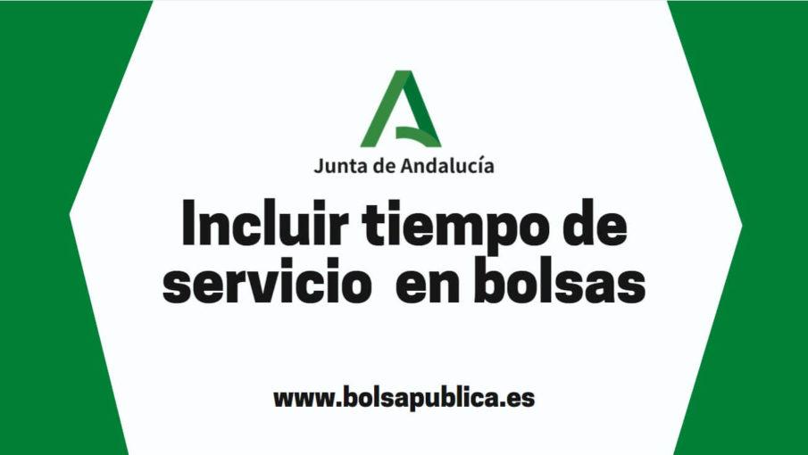 Ayuda incluir experiencia en bolsas Andalucía otras comunidades