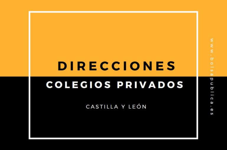 Direcciones colegios privados en Castilla y León