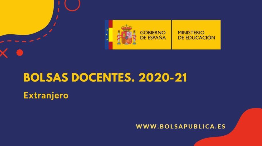 Bolsas docentes en el extranjero 202-21 Ministerio de Educación