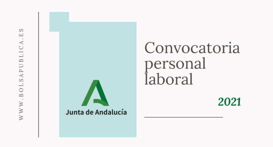convocatoria personal laboral de la junta de Andalucía Educación