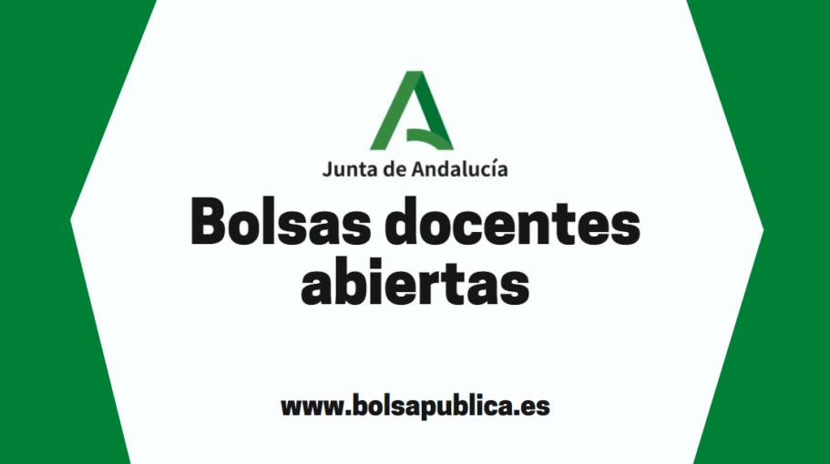 Bolsas docentes abiertas en Andalucía