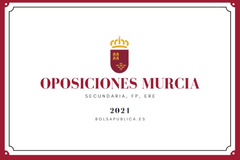 Oposiciones educación en Murcia 2021