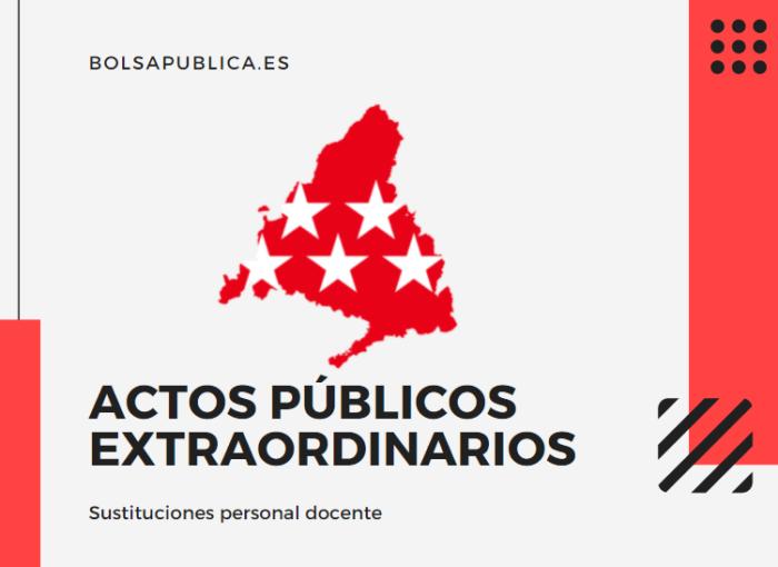 Actos públicos extraordinarios para maestros y profesores en Madrid