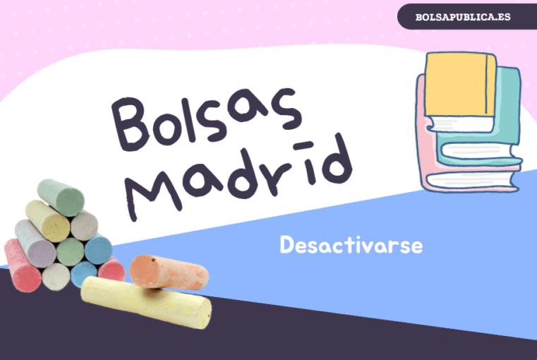 Cómo desactivarse de las bolsas docentes de Madrid