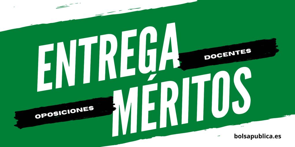 Entrega de méritos oposiciones docentes de Andalucía