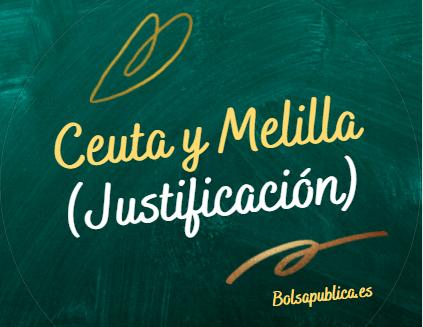 Ceuta y Melilla educación justificación presentarse a otras comunidades en oposiciones