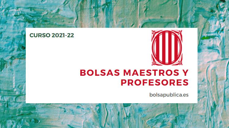 Bolsas para profesores y maestros abiertas en Cataluña curso 2021-22